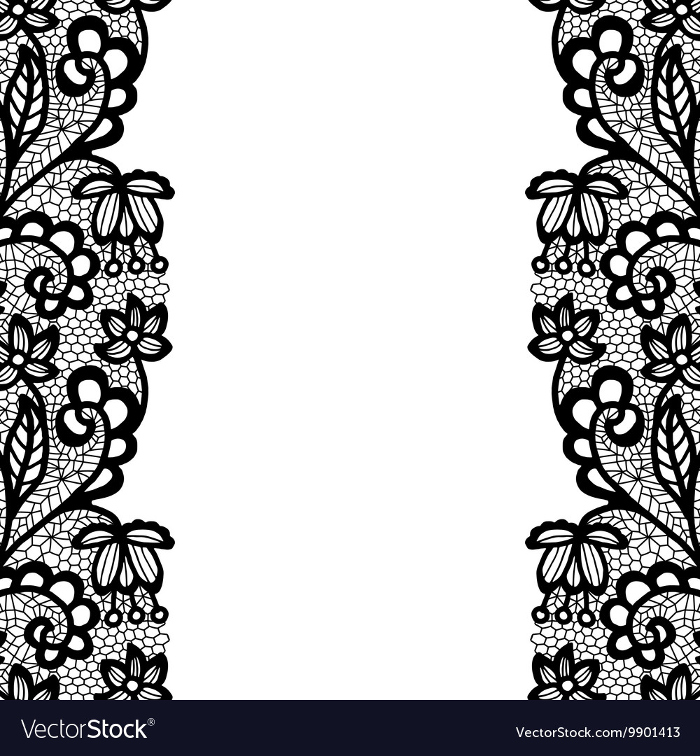 Seamless lace border invitation card royalty free vector seamless lace border invitation card vector image stopboris Choice Image