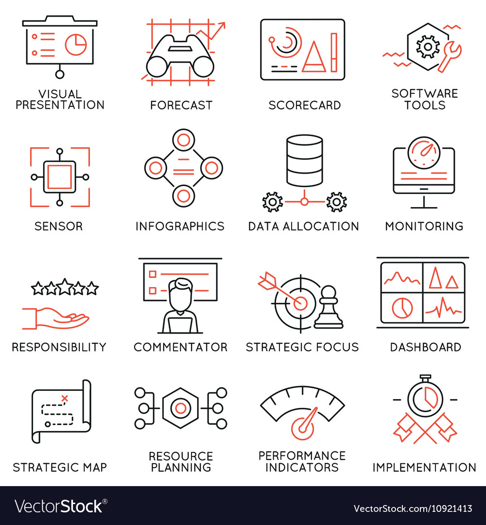 Strategy Management System icons -1