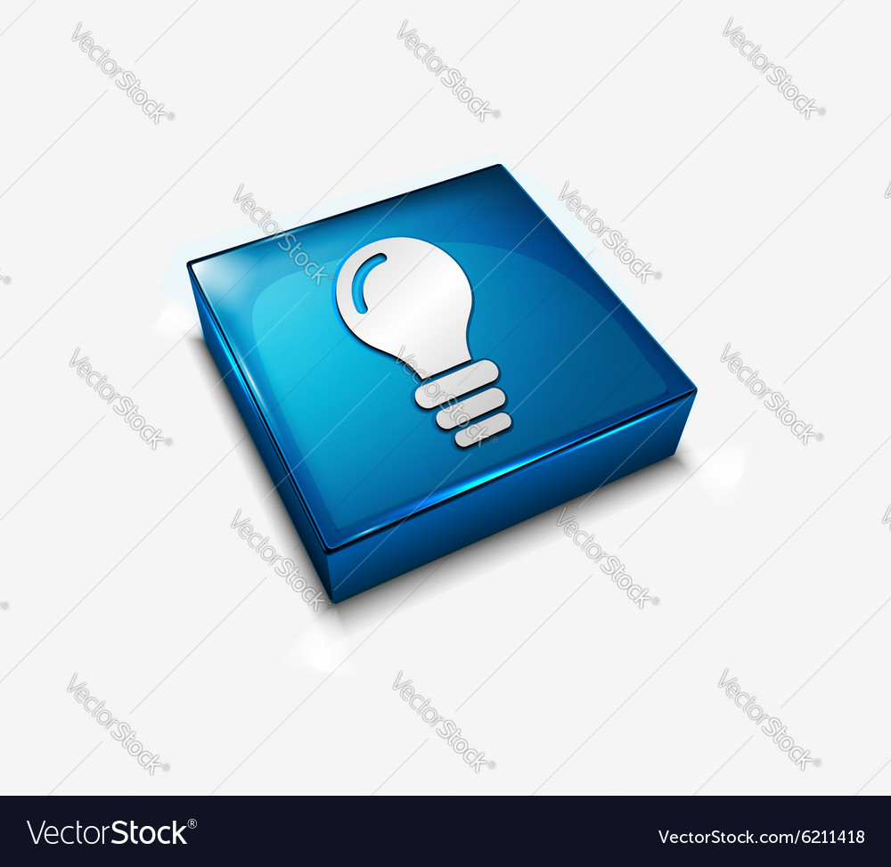 3d glossy bulb icon