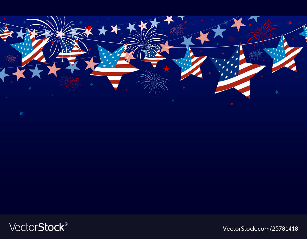 4th july usa independence day banner