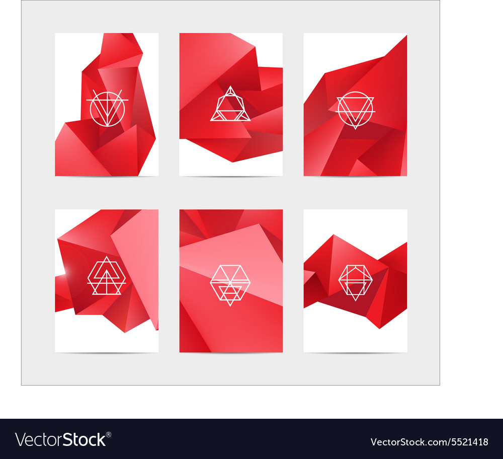 Abstract colorful user interface template set