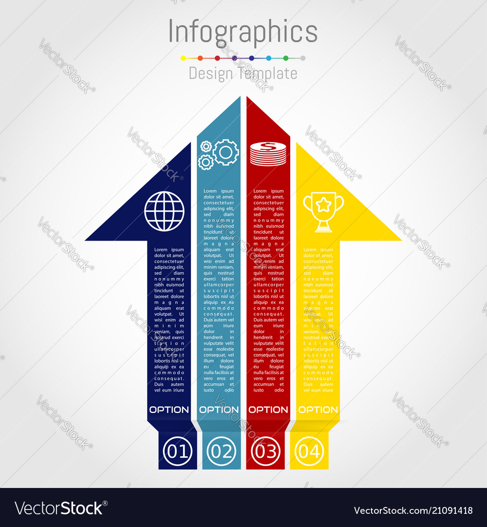Arrow infographic template layout for business