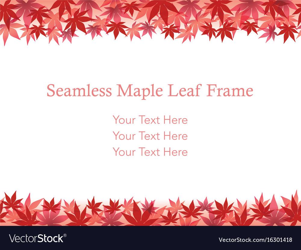 Autumn leaf frame 8
