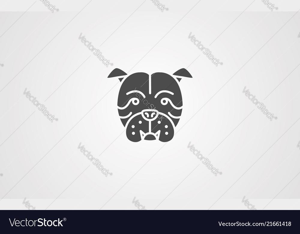 Bulldog icon sign symbol