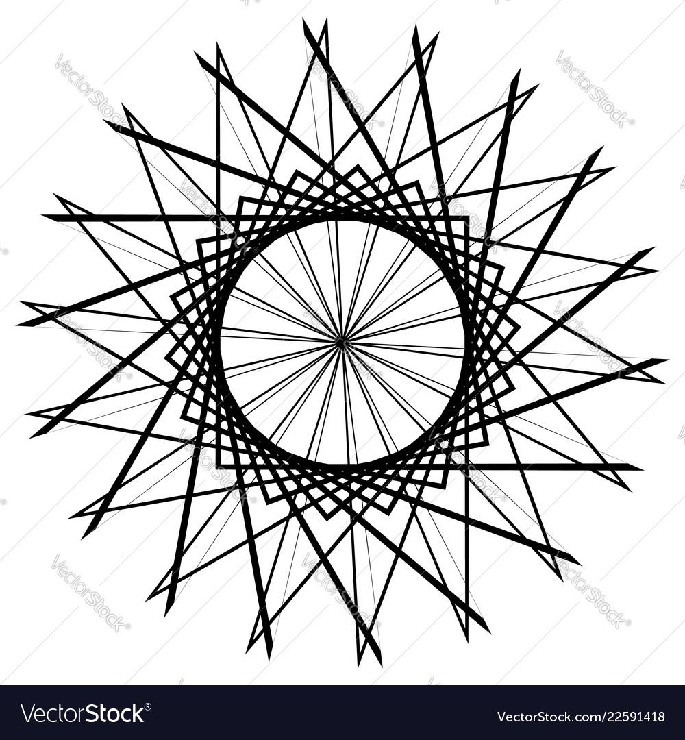 Circular geometric element abstract motif mandala