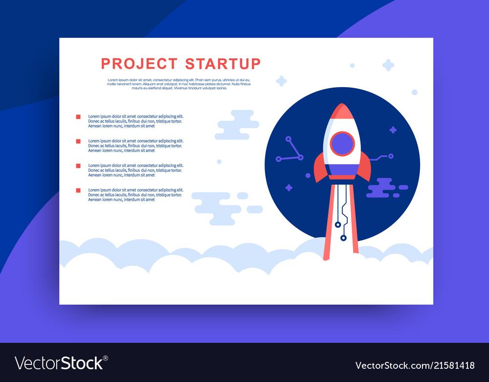 Project startup web presentation design