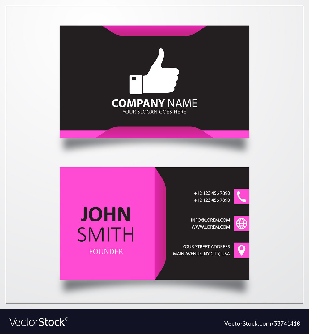 Thumb icon business card template