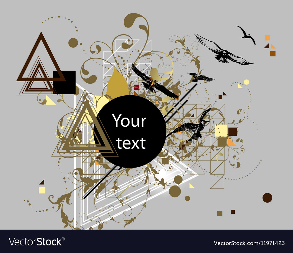 Abstract Background with Conflicting Elements