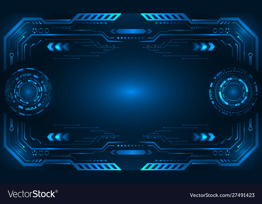 abstract hud ui futuristic frame control center vector image vectorstock
