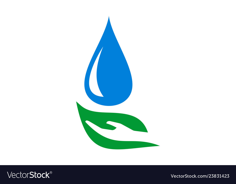 Abstract leaf hand water nature logo icon
