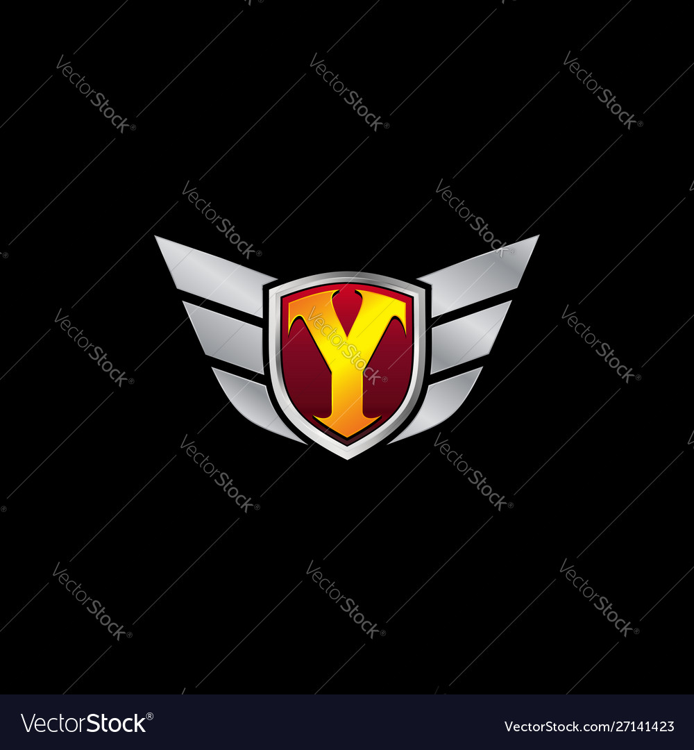 Auto guard letter y icon logo design concept