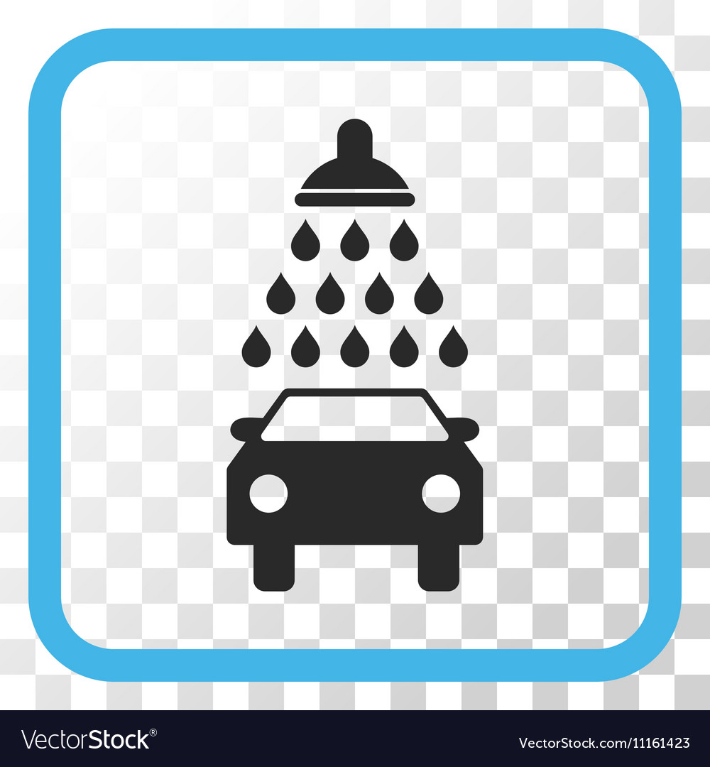 Car Shower Icon In a Frame Royalty Free Vector Image