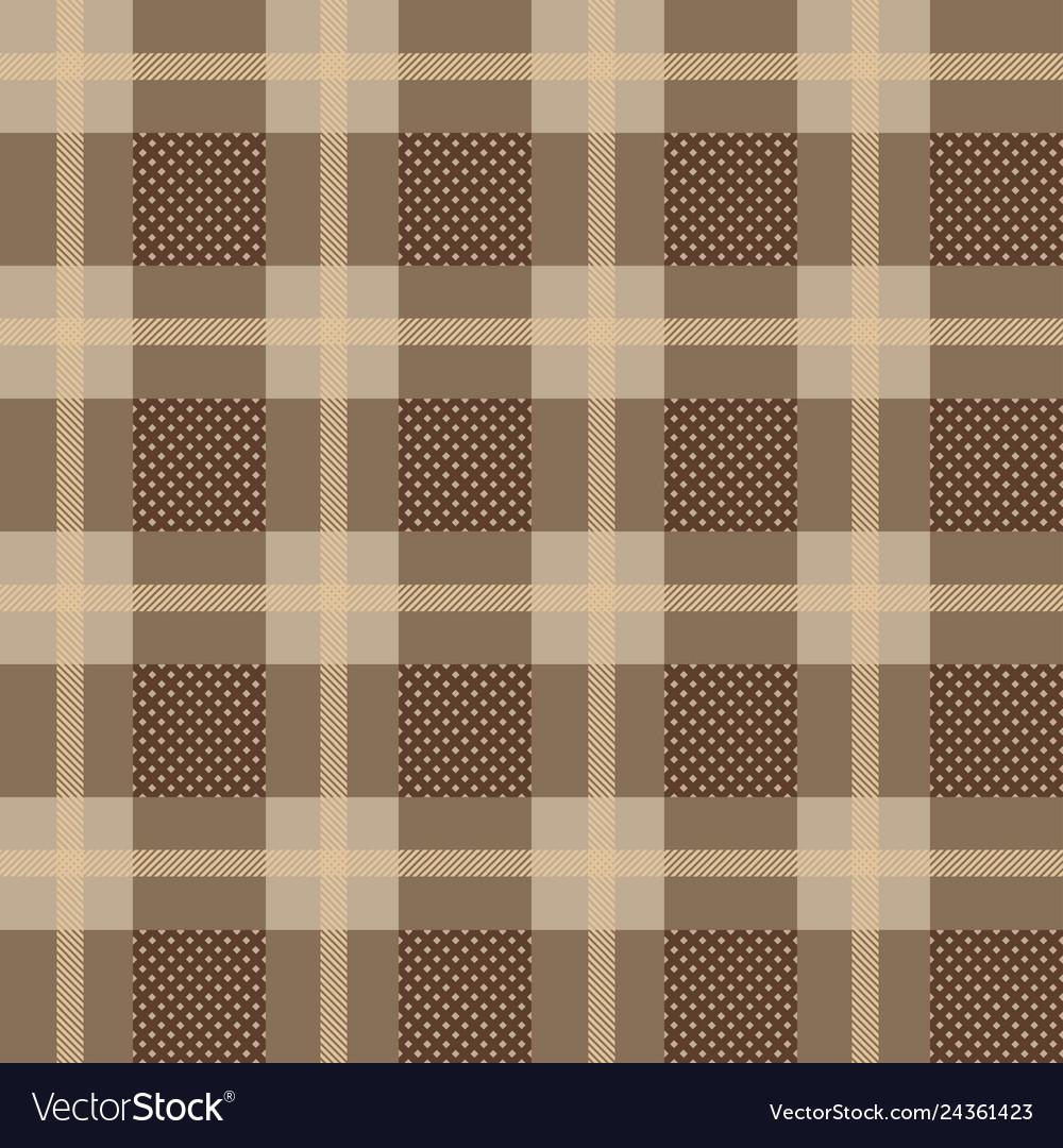 Checkered gingham plaid fabric seamless pattern
