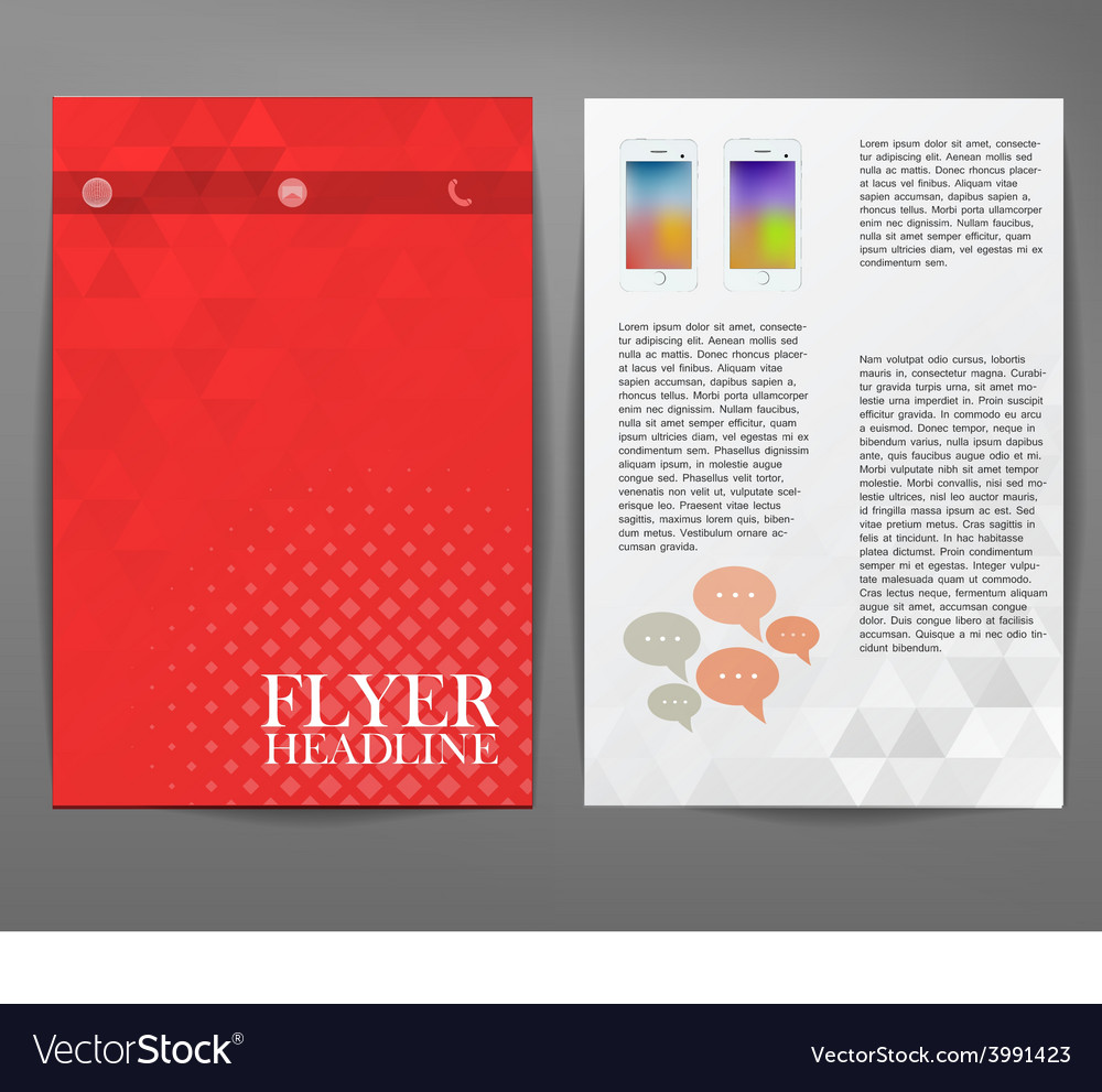 Cover report triangle geometry abstract red