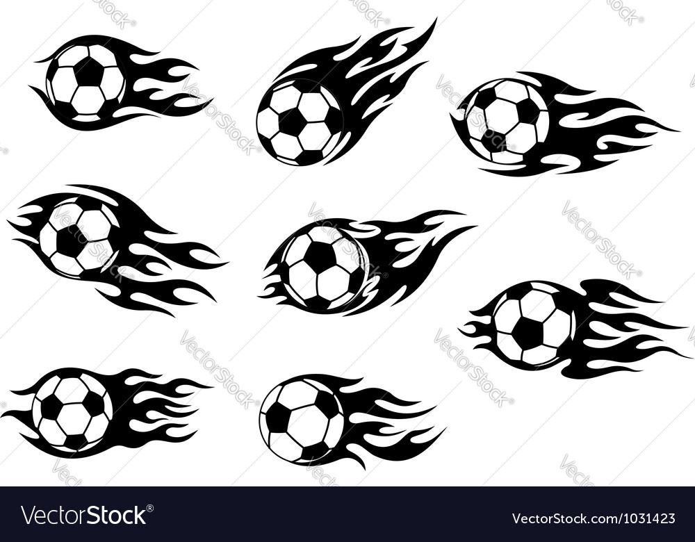 Football and soccer tattoos vector image