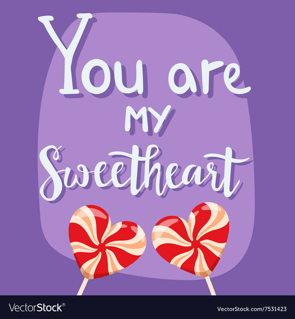 Happy Valentines Day Greeting Cards Royalty Free Vector