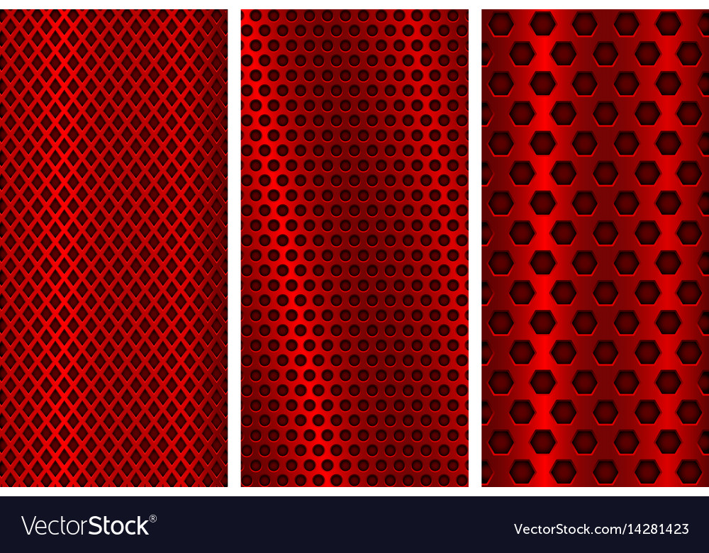 Red metal perforated backgrounds brochure design