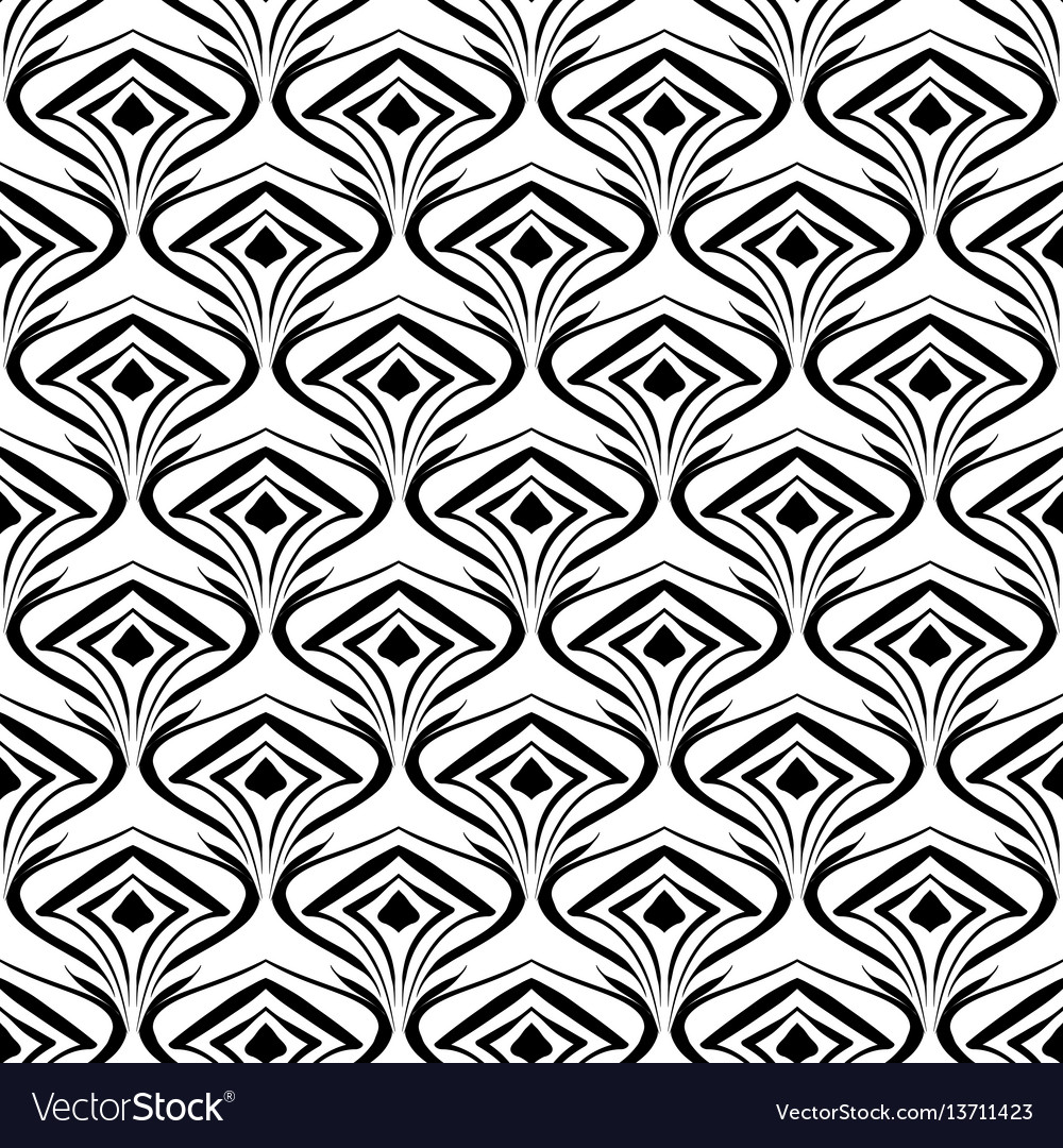 Seamless abstract pattern on wallpaper