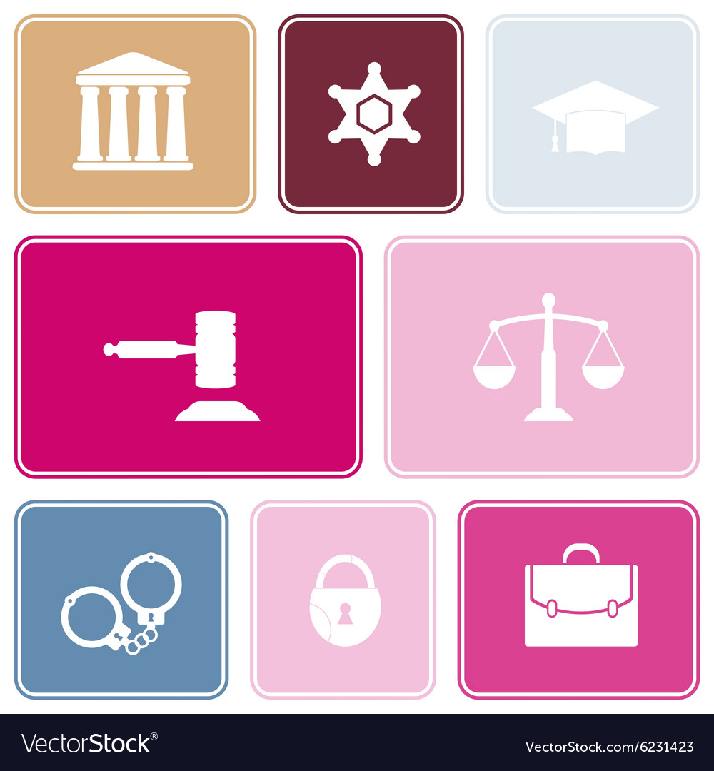 Seamless Background With Symbols Of Law And Courts