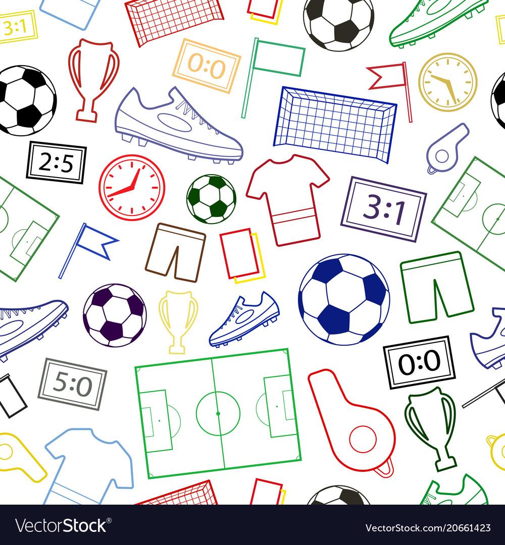 Seamless pattern of football symbols