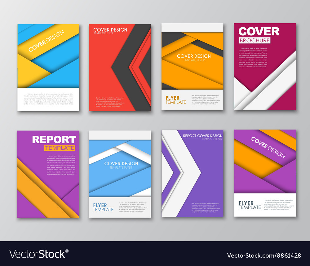 A set of brochures in the style of the material