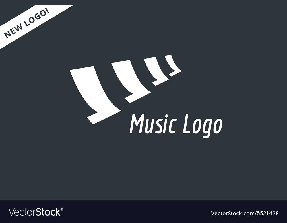 Abstract music piano keys logo icon Melody