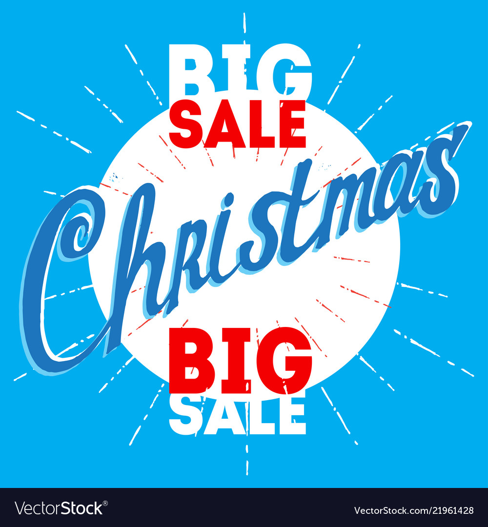 Christmas big sale poster for the week of