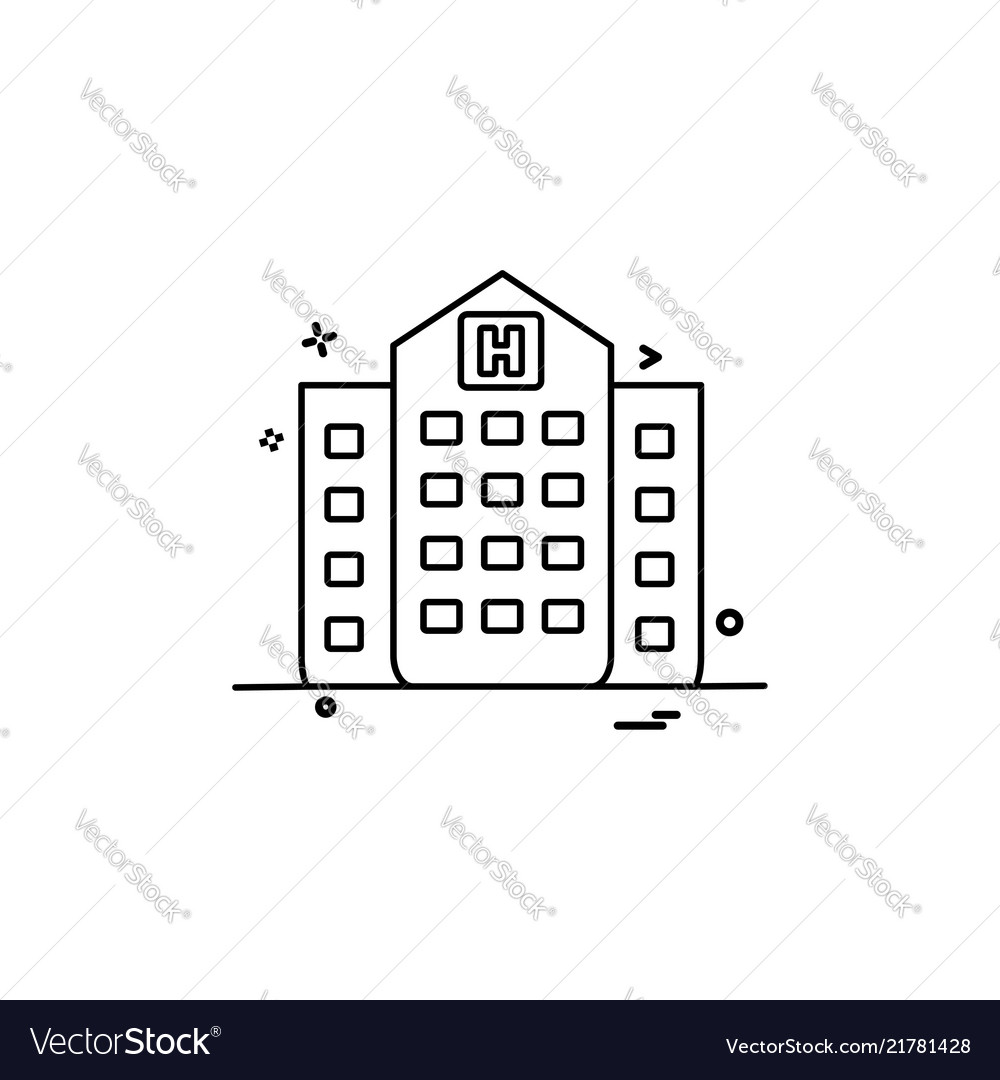Hospital building medical icon design