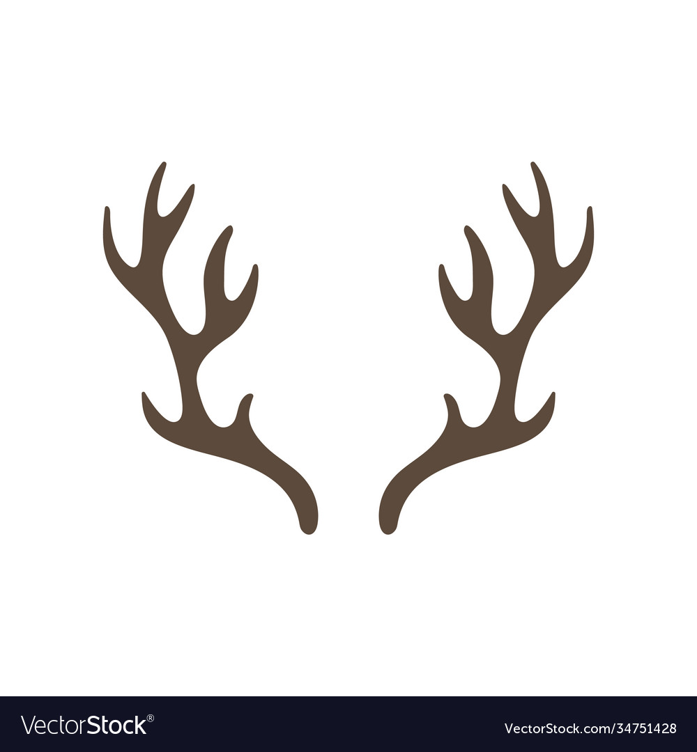 Reindeer antlers isolated on white background vector