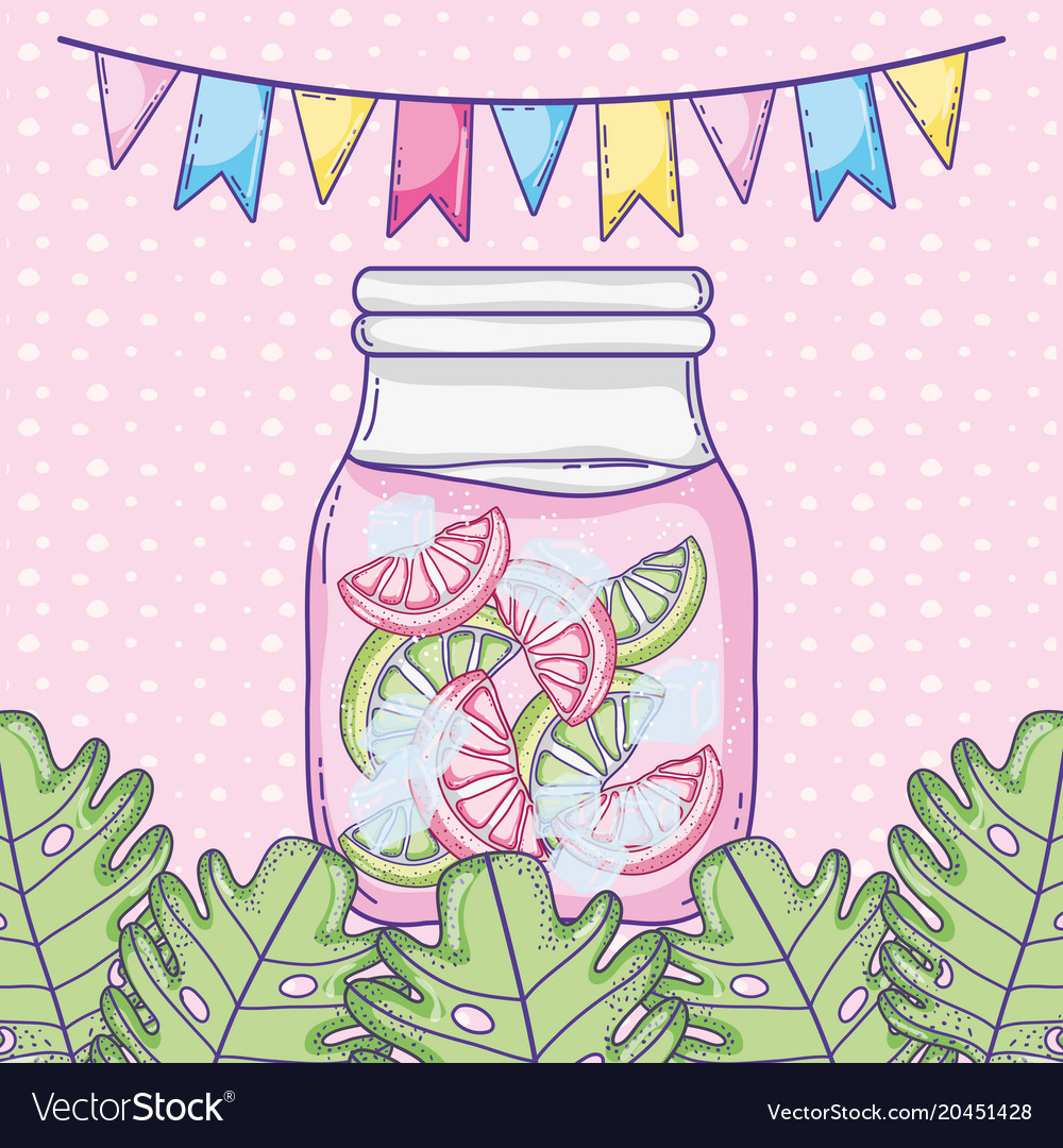 Summer juice cartoon vector image