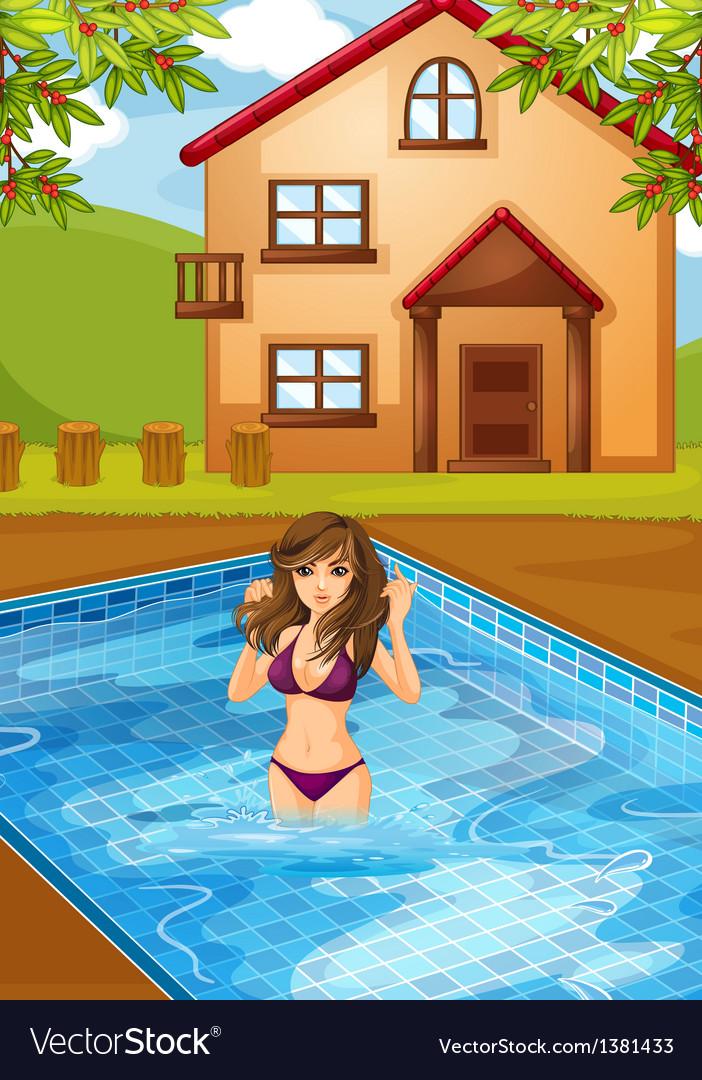 Girls sexy pool San Diego