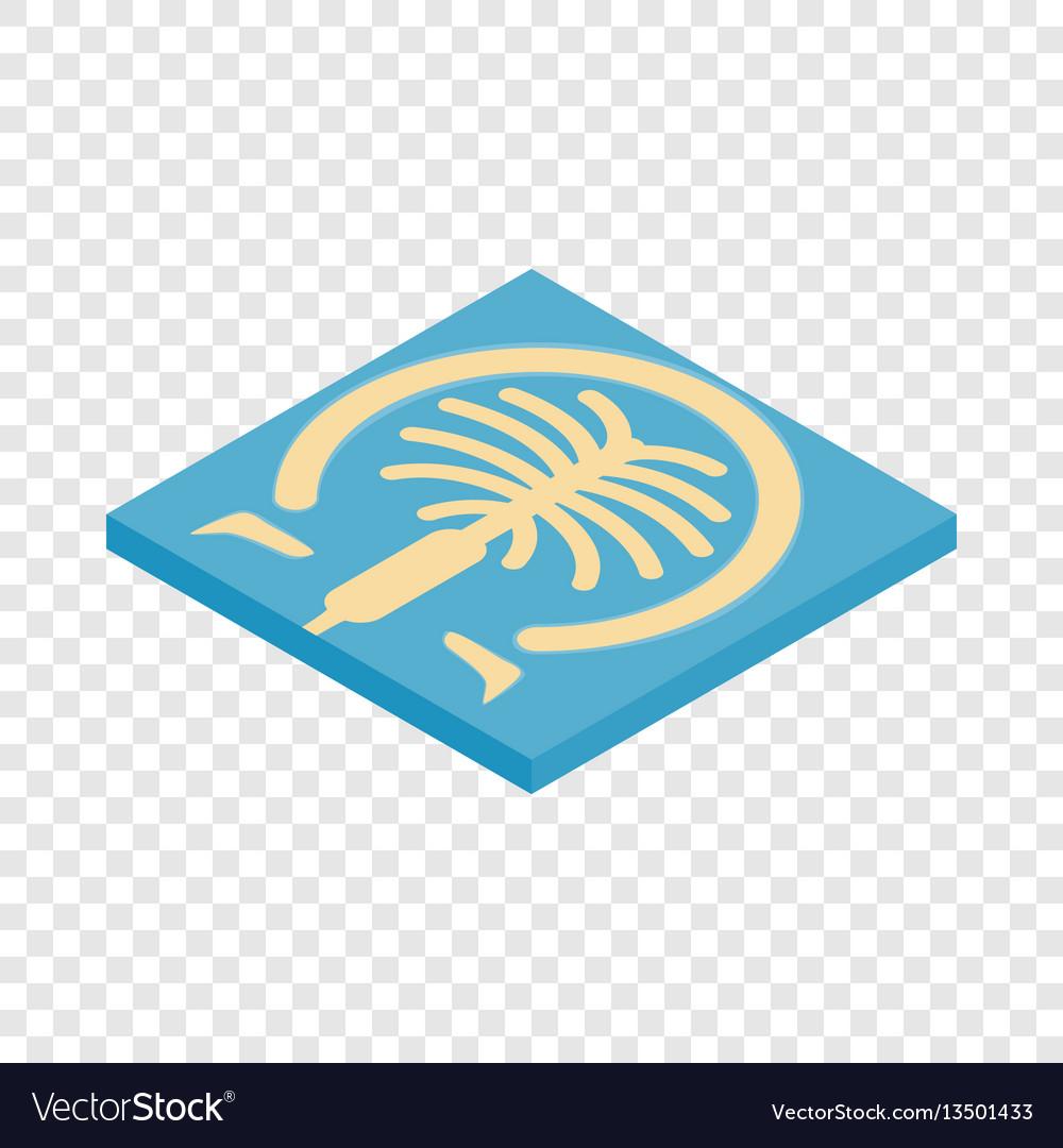 Artificial islands in dubai isometric icon