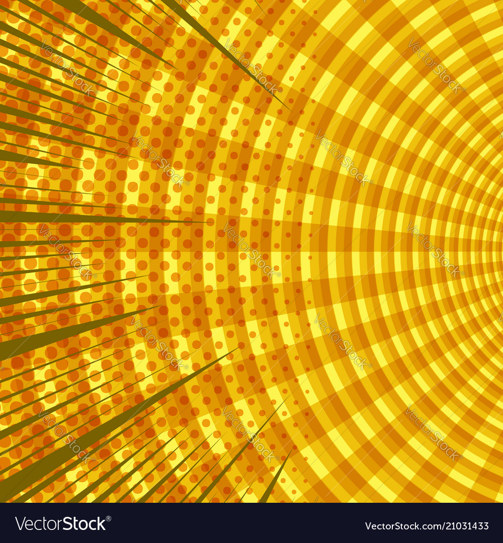 Comic dynamic yellow background