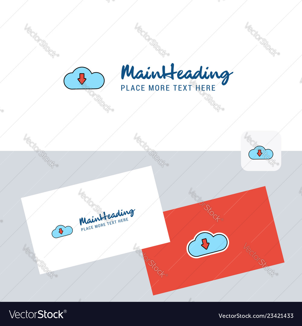 Downloading logotype with business card template