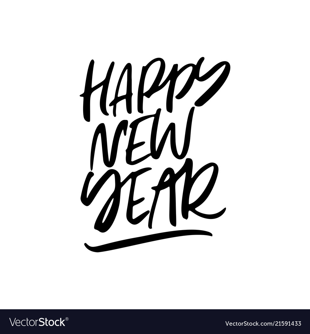 Happy New Year Lettering Design 19