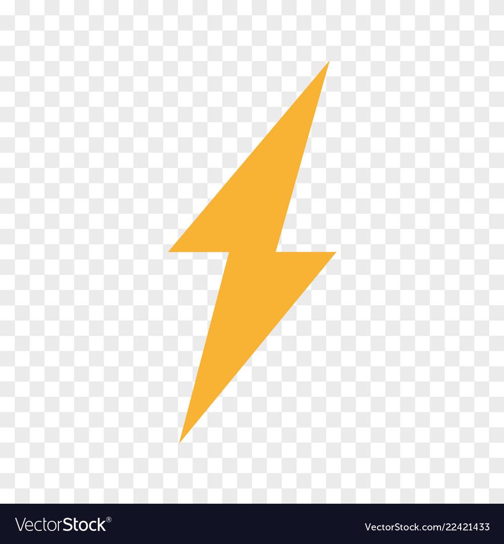 Lightning bolt flash icon thunder symbol