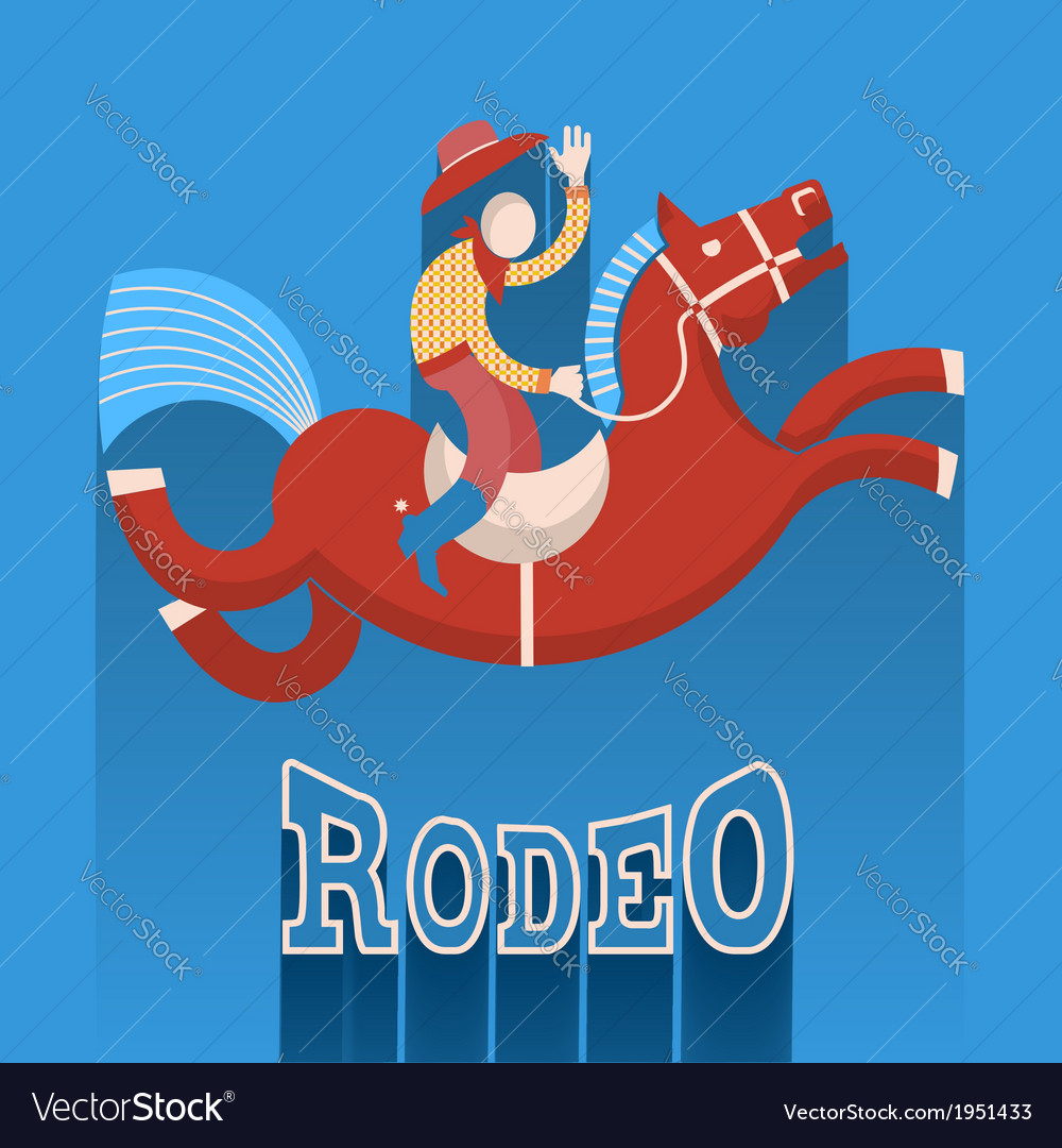 Rodeo posterCowboy on horse