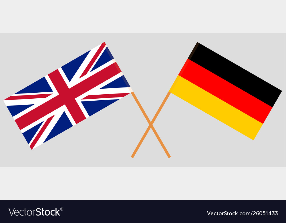 The uk and germany british and german flags
