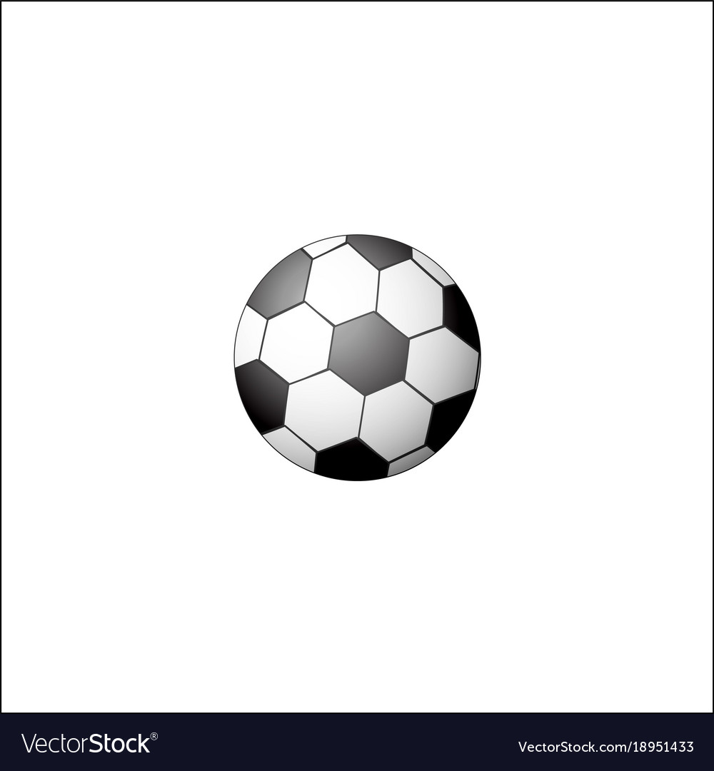 Traditional black and white soccer football ball vector image