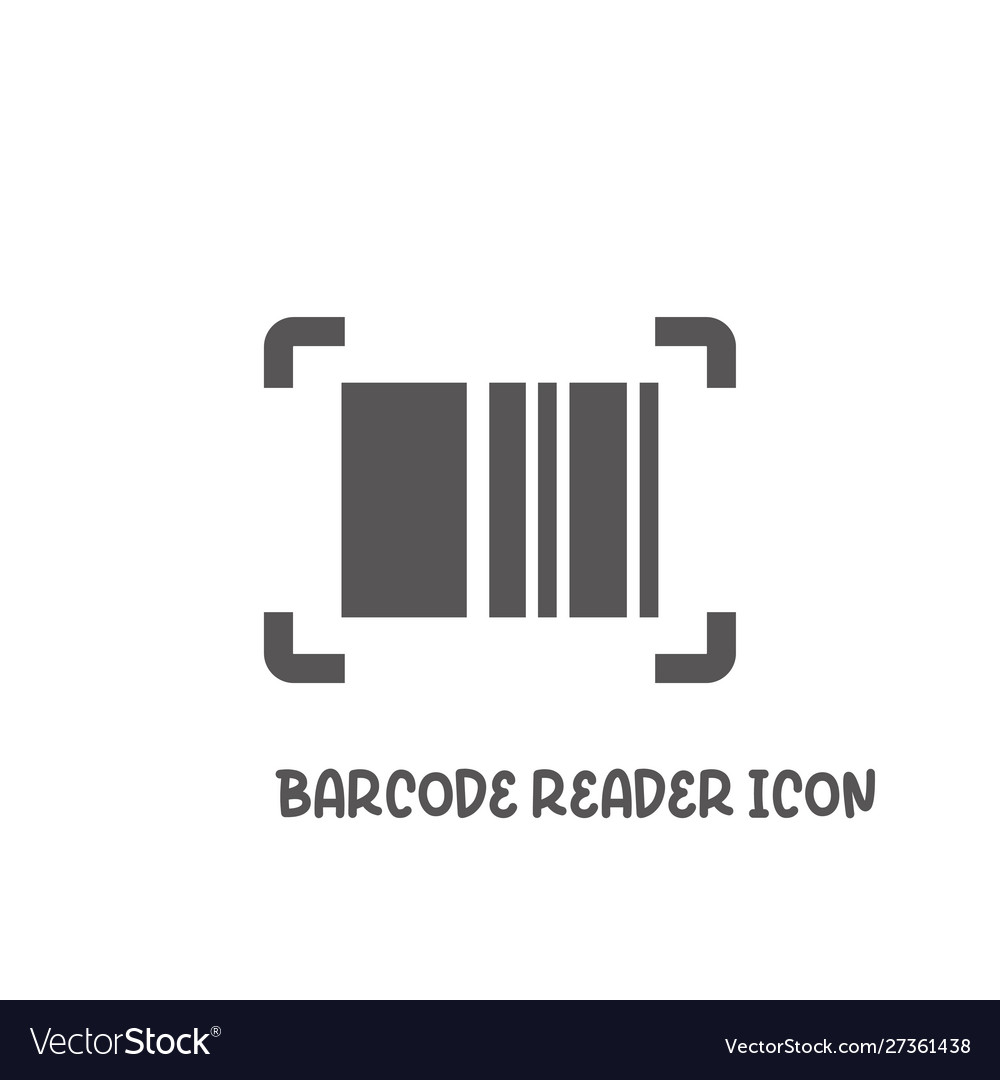 Bar code reader icon simple flat style