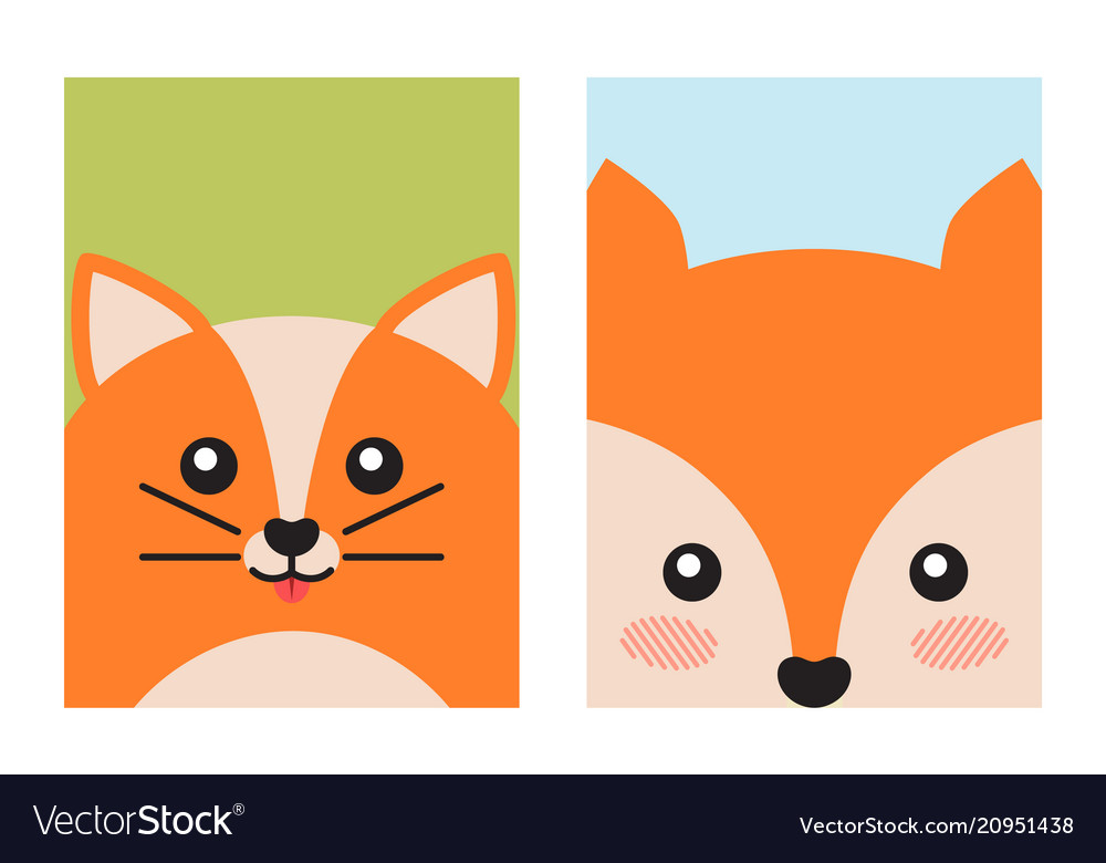Cat and fox animal covers