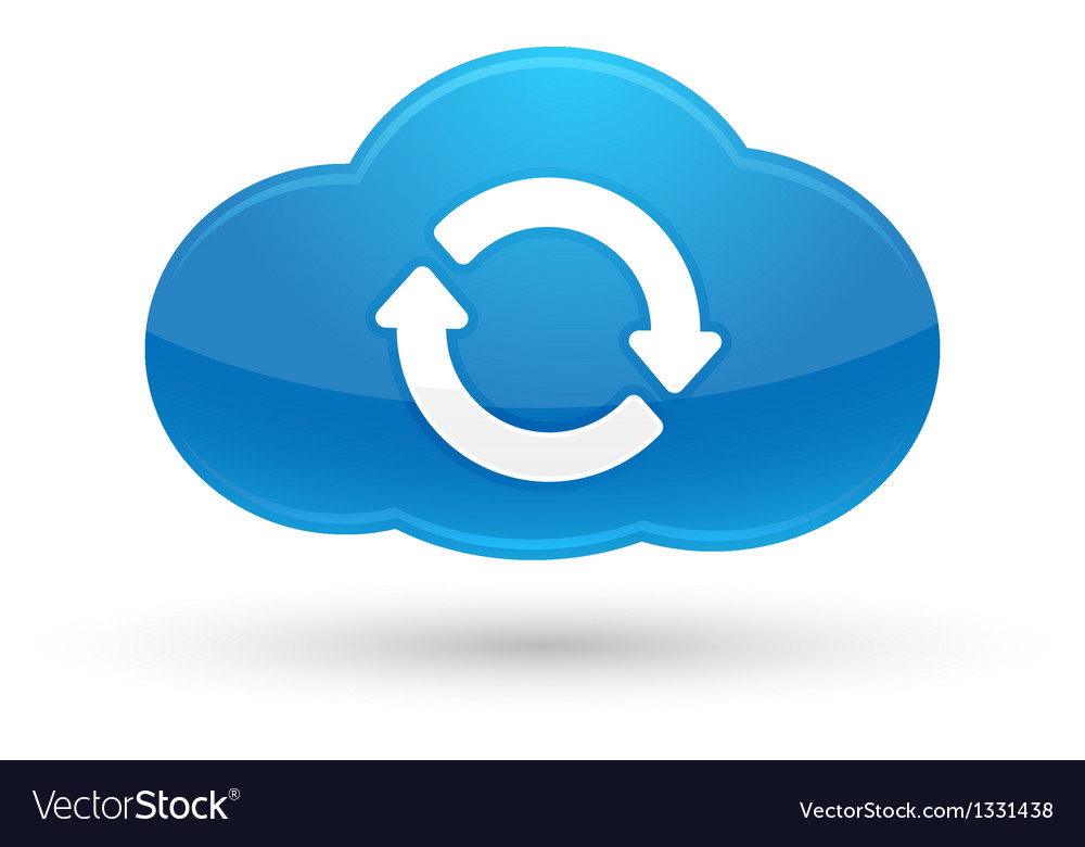 Cloud Computing Sync Icon vector image