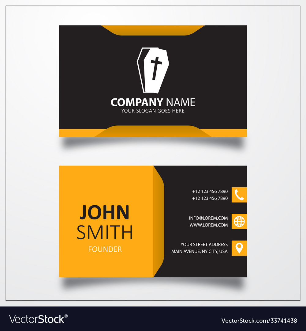 Coffin icon business card template