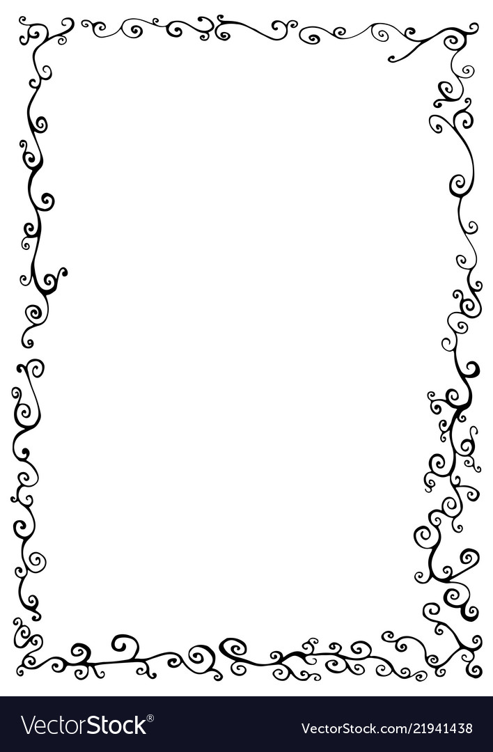 Doodle frame with doodles decorative line ornamen