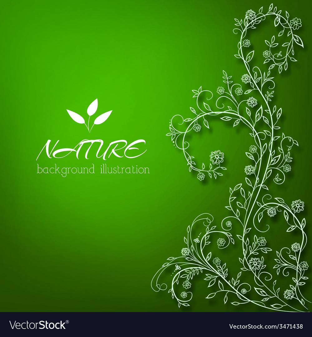 Floral nature background concept