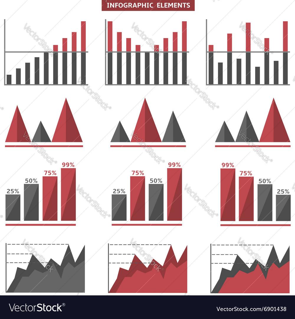Infographic graph set