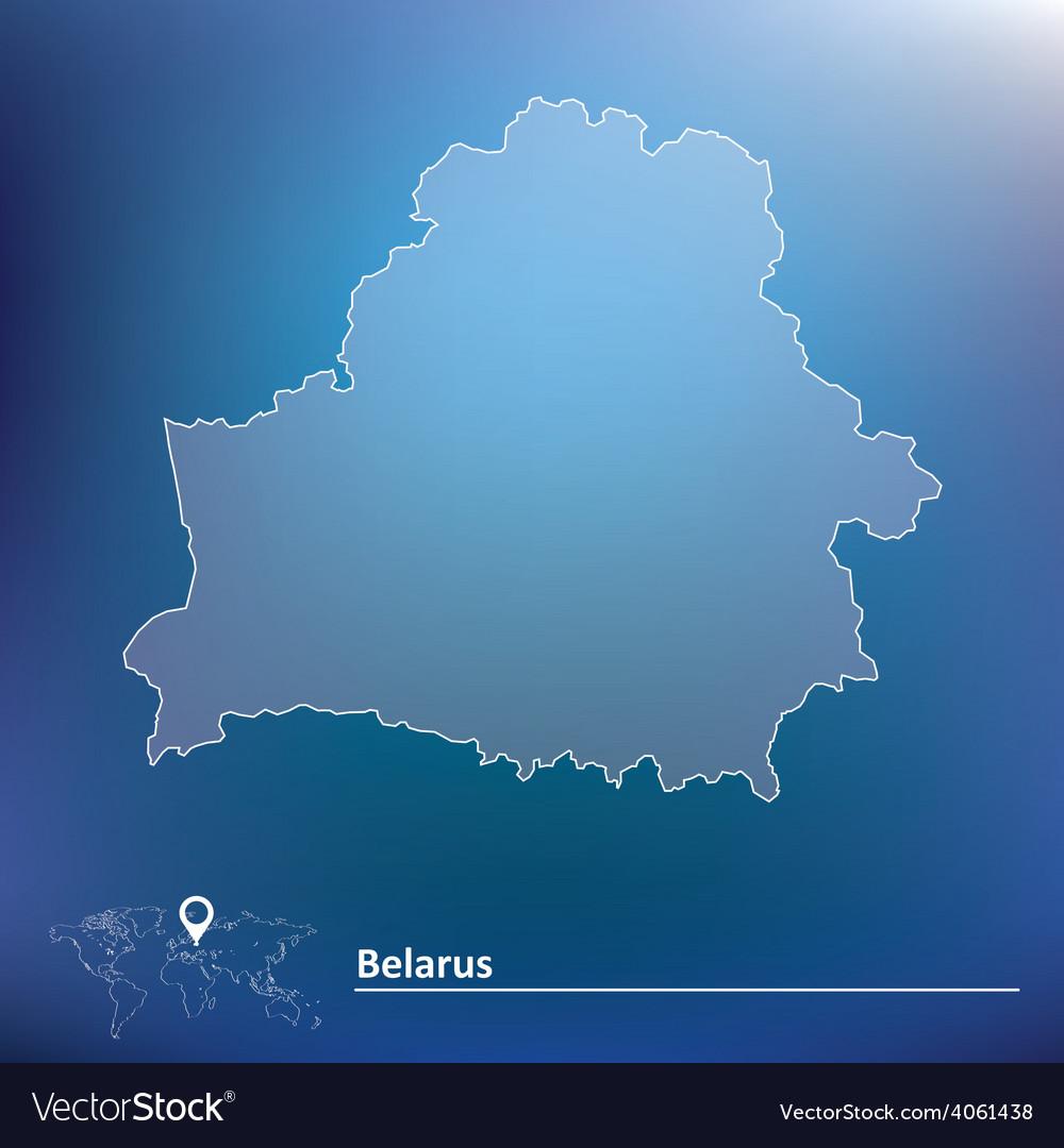 Map of Belarus vector image