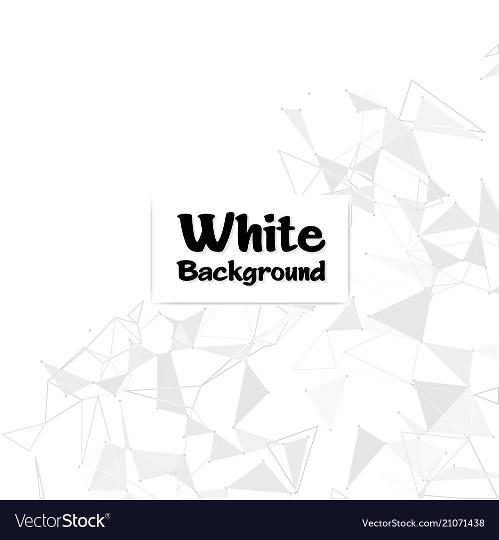 Modern polygonal white color background ima vector image
