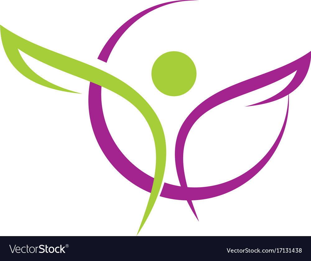 People sport beauty abstract logo