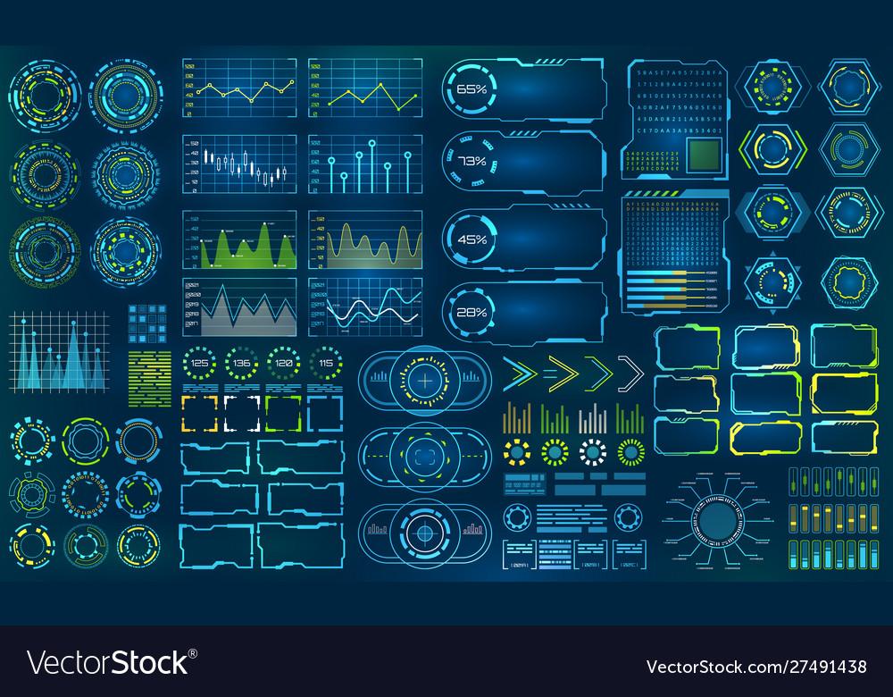 Set element for futuristic design interactive
